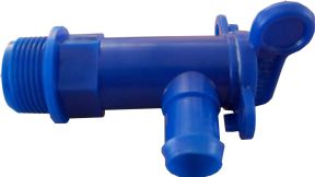 "DRAIN TAP BLUE FRESH 3/4"" BSP for 25mm HOSE"